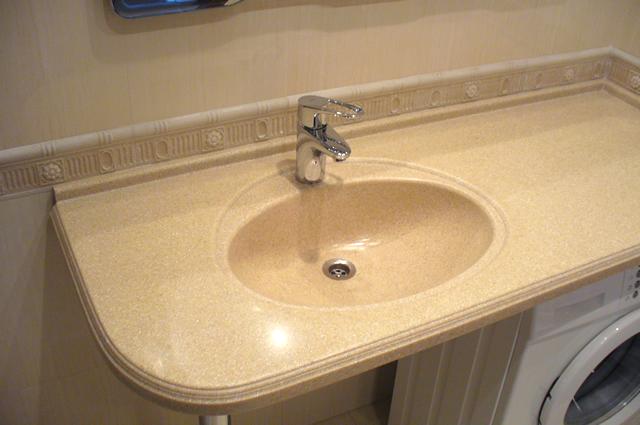 Столешница из искусственного камня в ванную цена самая лучшая столешница для кухни